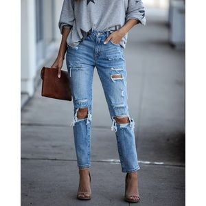🆕 Millie High-Rise Distressed Straight Jeans